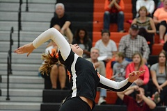 Photo Credit: JOHN WILLIAM HOWARD - Junior middle blocker Donn Smith takes a swing during the straight set victory over Gladstone on Sept. 2. Smith led the Indians with 15 kills in a five-set win over North Marion on Thursday evening.