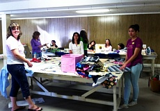 Photo Credit: CONTRIBUTED PHOTO - Sheri Brinkman held a Days for Girls sewing party in April that she called a success.