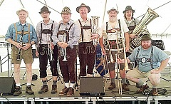 Photo Credit: SUBMITTED - German celebration - At the annual Newberg Oktoberfest, musical acts are among the many forms of entertainment. This oompah band - traditional German polka music - performed last year. This year artists, including Calamity Jazz and Ben Rice, will take the stage Sept. 19-20.
