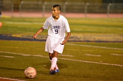 Photo Credit: COREY BUCHANAN - Cristian Cabello scored one goal off of a free kick and another out of nowhere against Aloha.