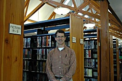 Photo Credit: ESTACADA NEWS PHOTO: ISABEL GAUTSCHI - Dave Bugni is the president of the Friends of the Estacada Public Library. The group is planning a fall book sale fundraiser and a lecture series.