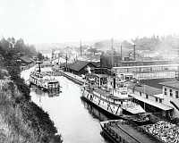 Riverboat transportation was an important advancement in early days on the Willamette River.
