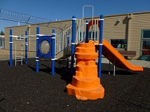 Photo Credit: SUBMITTED PHOTO - New playground equipment at Coffee Creek Correctional Facility in Wilsonville was recently purchased by the Wilsonville Rotary Club and its Through a Child's Eyes effort.