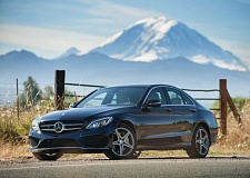 Photo Credit: JOHN M. VINCENT - Athletic is the best word to describe the look of the newest Mercedes-Benz C-Class. The long hood and high beltline work together to give the sedan an almost coupe-like appearance.