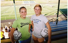 Photo Credit: JOHN DENNY - Putnam senior leaders Madi Kading (left) and Makenzie Maier believe an experienced lineup could spell success for the Kingsmen girls soccer team this fall.