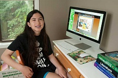 Photo Credit: TIDINGS PHOTO: VERN UYETAKE - Jamie Munt of Lake Oswego is a student at Oregon Connections Academy, a public virtual charter school.