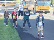 Photo Credit: SUSAN MATHENY - Students headed back to school last week in the 509-J School District, which posted improved test scores for the 2013-14 school year at most levels tested and at all schools. Culver schools also saw improved test results.