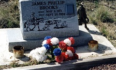 Photo Credit: CONTRIBUTED PHOTO - The resting place of James Phillip Brooks, who was shot and killed near the Fopiano Ranch 20 years ago is shown in the above photo. Prineville author Rick Steber wrote about the shooting and the subsequent investigation that, to date, has not led to a murder charge.