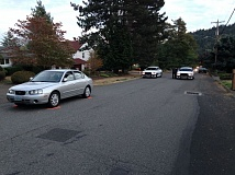 Photo Credit: CLACKAMAS COUNTY SHERIFF'S OFFICE - A pedestrian was injured Sunday on this Happy Valley road.