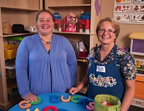 Photo Credit: SPOKESMAN PHOTO: JOSH KULLA - Heather Chambers (left) and Koko Reyes have opened Little Ones Preschool, a Christian school on the east side of Wilsonville that will use the Reggio Emilia approach to early learning.