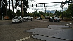 Photo Credit: SPOKESMAN FILE PHOTO: JOSH KULLA - The intersection of Day and Grahams Ferry roads in north Wilsonville is a key intersection in the Basalt Creek planning area, which will serve Wilsonville and Tualatin in different ways in the future.