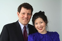 Photo Credit: CONTRIBUTED PHOTO - Nicholas Kristof and his wife, Sheryl WuDunn.