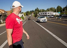 Photo Credit: SUBMITTED PHOTO - Public safety â€' Every year the Newberg-Dundee Police Department conducts operations to educate drivers and pedestrians on Oregon law and safety. This year more than 200 drivers were cited or warned for violations.