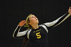 Photo Credit: JOHN WILLIAM HOWARD - St. Helens senior Hailee Fischer had 18 aces in the Lions' flattening of Milwaukie.