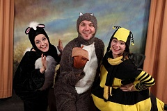 Photo Credit: SUBMITTED PHOTO: CLACKAMAS REPERTORY THEATRE - Clackamas Repertory Theatre is launching Wing It, a new childrens series of productions. The cast includes, from left, Scentsy the Skunk, Luna the Owl and Honey the Bee.