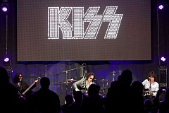 Photo Credit: JAIME VALDEZ/PAMPLIN MEDIA GROUP - WHAT A NIGHT! - At a Sept. 14 Lake Oswego event, KISS members (from left) Gene Simmons, Paul Stanley and Tommy Thayer entertain guests.