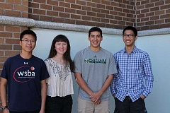 Photo Credit: TIDINGS PHOTO: KATE HOOTS - Four West Linn High School seniors were named National Merit Semifinalists this month. They are eligible to compete for millions of dollars in scholarships. From left, Henry Li, Claire Baumgardner, Michael Paschal and Daniel Tang.