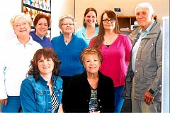 Photo Credit: CONTRIBUTED PHOTO - Local CASA advocates pose for a photo. Pictured are back row, left to right, Karen Walker, Amy Pettijohn, Neva McPherson, Jill Bower,  Debbie Bircher,  and Gene Vickery, and front row, left to right, Shawna Holland and Luanne Stephenson.
