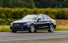 Photo Credit: DOUG BERGER/NWAPA - The 2015 Mercedes C400 during the recent Run to the Sun event organized by the Northwest Automotive Press Association.