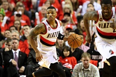 Photo Credit: TRIBUNE FILE PHOTO: JONATHAN HOUSE - All of the Trail Blazers starters, including point guard Damian Lillard, are in their peak years for third-year Portland coach Terry Stotts.