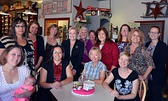 Photo Credit: CONTRIBUTED PHOTO - The Crook County Health Department staff, pictured left to right, front row, Emma Reynolds and baby Pearl, Ruby Ruiz, Dianne Koops, and Wendy McCoy; back row, left to right, Regina Sanchez, Becky Lundgren, Karen Yeargain, Muriel DeLaVergne-Brown, Kris Williams, Paula Yvonne, Mindy Stomner, Carly Rachocki, Renee Sheehy and Alanna Spry.