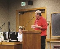 Photo Credit: TYLER FRANCKE | WOODBURN INDEPENDENT - Woodburn resident Luis Juarez attended last week's City Council meeting to speak against the proposed lawn-parking ordinance, which was approved by councilors.