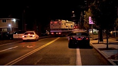 Photo Credit: KOIN 6 NEWS - The Portland Police Bureau's mobile command center on scene of a homicide in Southeast Portland.