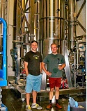 Photo Credit: RITA A. LEONARD - The owner of Brew Dr. Kombucha, Matt Thomas, left, stands with Master Distiller Seth OMalley, at the companys new distillery on S.E. Milwaukie Avenue in Brooklyn.