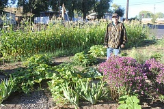 Photo Credit: SUSAN MATHENY - Walter Callahan tilled and planted the Best Club garden this spring.
