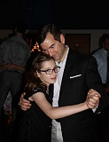 Photo Credit: SUBMITTED PHOTO: LESLIE GARCIA - Mia dances with her father, Matt Michel, during the Our Lady of the Lake Catholic Schools recent Father Daughter Dance.