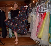Photo Credit: CONNECTION PHOTO: DREW DAKESSIAN - Gross shows off her favorite dress currently available for purchase at the time at her store Xtabay Vintage Clothing Boutique.