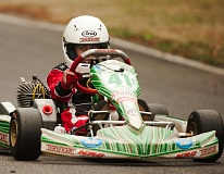 Photo Credit: SPOKESMAN PHOTO: JOSH KULLA - Wilsonville boy Josh Pierson is one of the top-ranked go-kart racers in his age group nationally. He practices and races regularly at Pats Acres, a racetrack just outside Canby.