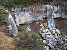 Photo Credit: SCOTT STAATS PHOTO - The 60-foot high, side-by-side Paulina Creek Falls makes for a nice view.