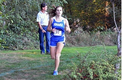 Photo Credit: TIMES PHOTO: MATT SINGLEDECKER - Valley Catholic senior Serena Stoiantschesky ran her first 5,000 at the Southwest Christian Invitational on Friday and finished in 28:54.