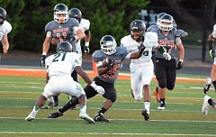 Photo Credit: TIMES FILE PHOTO - Beaverton sophomore running back Anthony Albright broke out to the tune of 160 rushing yards and two touchdowns against Aloha on Friday. The Beavers outscored the Warriors 26-7 in the second hafl.