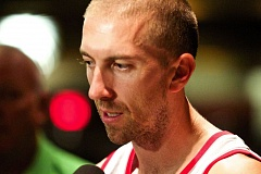 Photo Credit: TRIBUNE PHOTO: JAIME VALDEZ - Steve Blake says it's like old times being back with the Blazers, and that he missed playing basketball with LaMarcus Aldridge and Nicolas Batum and in front of the Portland fans.