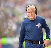 Photo Credit: COURTESY OF MICHAEL WORKMAN - Seattle Seahawks coach Pete Carroll ponders the flow of Sunday's home loss to the Dallas Cowboys.