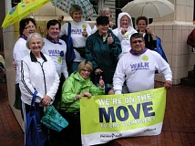 Photo Credit: SUBMITTED PHOTO - A previous years Still Kickin team had to contend with rain during the annual walk in support of Alzheimers disease.  This year, the weather was fine.