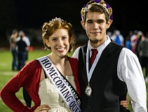 Photo Credit: HILLSBORO TRIBUNE PHOTO: CHASE ALLGOOD - Queen Lisa Ellis and King Benjamin Miller reigned over Hillsboro High Schools homecoming festivities last weekend as the Spartans football team defeated Rex Putnam High on Thursday, Oct. 9.