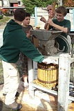 Photo Credit: SUBMITTED PHOTO - Boy Scouts will once again demonstrate the use of an antique apple press.
