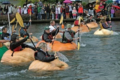 Photo Credit: TIMES FILE PHOTO - The 11th annual West Coast Giant Pumpkin Regatta returns to the Tualatin Lake of the Commons on Saturday.