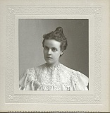 Photo Credit: CCHS - Muriel (Mertie) Stevens circa 1900 (18 years old).