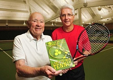 Photo Credit: REVIEW/TIDINGS PHOTO: VERN UYETAKE - Lake Oswegos Roger McKee and Ray Leon teamed up to write Love-to-Win Tennis. As Leon said, He provided the knowledge, and I provided the writing.