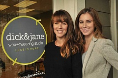 Photo Credit: STAFF PHOTO: VERN UYETAKE - Amy Blondheim, left, owner of Rubia Hair Salon, and Brittany Waite have opened Dick & Jane Wax and Tweezing Salon to early acclaim on Willamette Drive.
