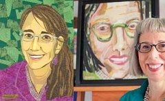 Photo Credit: SUBMITTED PHOTO - Mixed media artist Theresa Weil will present her cut-paper collage portraits of women leaders of Oregon nonprofits at 510 Museum and ARTspace. The show opens Oct. 28 and continues through Nov. 12.