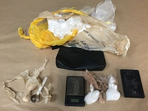 Photo Credit: SUBMITTED PHOTO - The traffic stops happened within minutes of each other Tuesday afternoon. Police seized methamphetamine and drug paraphernalia.