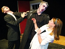 Photo Credit: COURTESY PHOTO - Hilhi students (left to right) Elijah Webb, Isaac Mitzel and Lauren Goldfarb star in upcoming play, Night of the Living Dead.