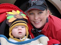 Photo Credit: SUBMITTED PHOTO - Karen and Caden Kleinwort at their first Give n' Gobble. Caden is now 6 years old.