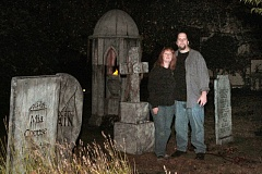 Photo Credit: DAVID F. ASHTON - By common consent, Chris and Jeff Davis have the spookiest house in the Ardenwald-Johnson Creek neighborhood.