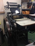 Photo Credit: SUBMITTED PHOTO - Nessa Sander has launched a crowd-funding campaign to purchase this 100-year-old letter press she will use for her business, The Card Bar.